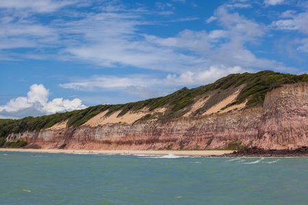 Brazilian coast, viewed from the sea of Natal - RN - Brazil