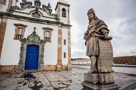 the prophets: Prophets of Aleijadinho in Congonhas - Minas Gerais - Brazil Stock Photo