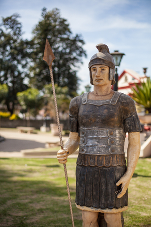 colonization: Roman statue in the central square of Pedrinhas Paulista, city  of Italian colonization in the countryside of Sao Paulo state