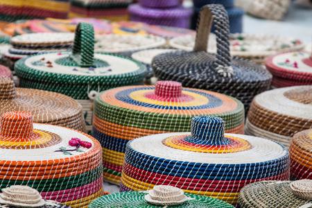 african basket: Straw Craftwork in Alagoas - Maceio - Brazil