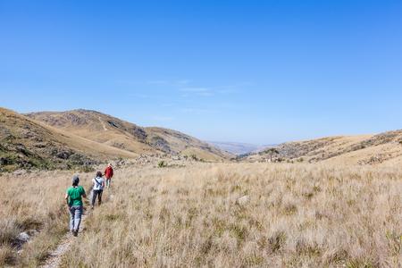 People walking on trails of Serra da Canastra National Park - Brazil