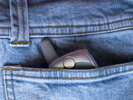 path to wealth: jeans Stock Photo