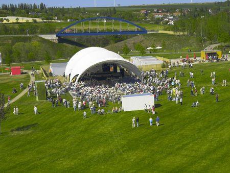 exhibition crowd: Parco