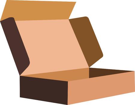 battu: Vector image d'une bo�te d'emballage