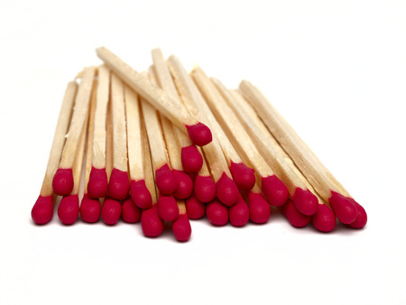 red wooden matches          photo