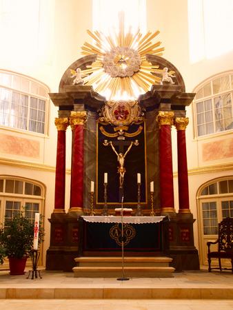 Interior of German church (altar) photo