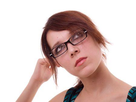 Slender, nice girl on a white background Stock Photo - 1808870