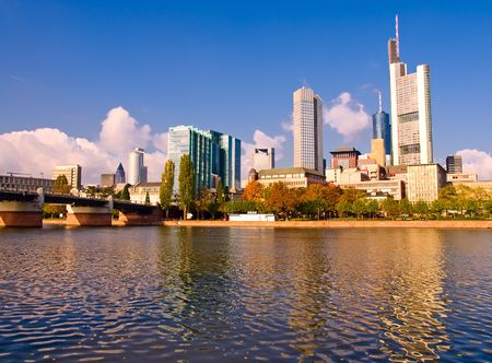 The central business district of Frankfurt, Germany photo