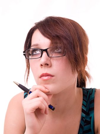 Attractive young businesswoman with glasses Stock Photo - 1808877
