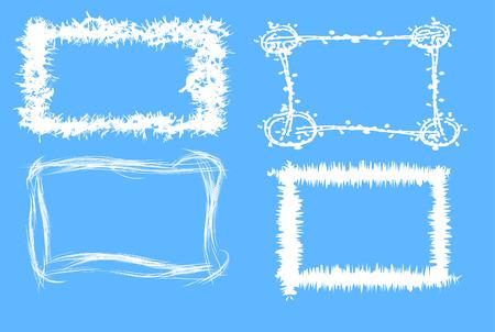 Winter grunge  frames, vector illustration Vector