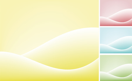 Set of four color backgrounds Stock Vector - 2300070