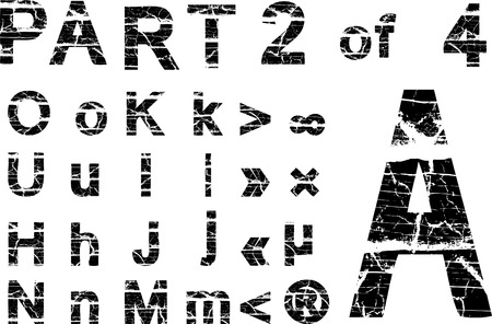 cracked alphabet Stock Vector - 2379114