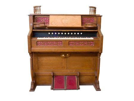 chorale: Antique organ Stock Photo