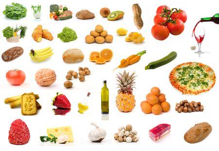 Conjunto de alimentos vegetales  Foto de archivo - 3026514