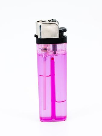 Pink lighter isolated on white background