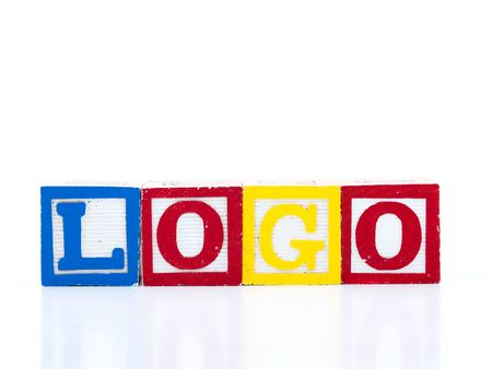 Logo,  text of the cubes Stock Photo - 3595559