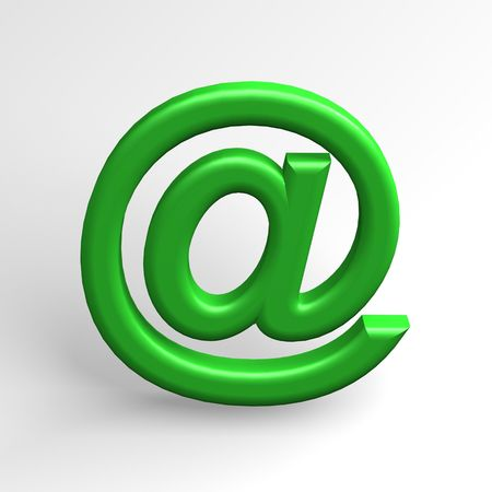 electronically: Email sign @ Stock Photo