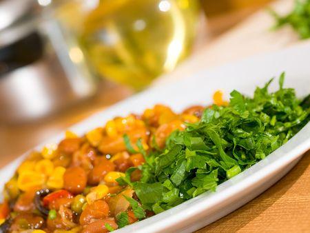 liquid state: Vegetable casserole in hollow squash