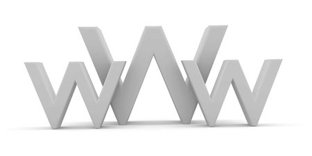3d World Wide Web internet symbol Stock Photo - 3727298
