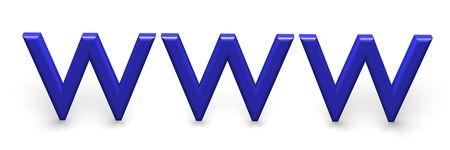 3d World Wide Web internet symbol Stock Photo - 3727308
