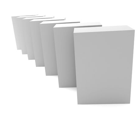 noname: Blank 3d box Stock Photo