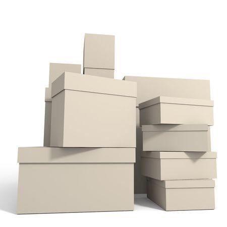 Boxes on whute Stock Photo - 3765911