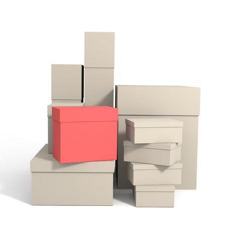 Boxes on whute Stock Photo - 3778625
