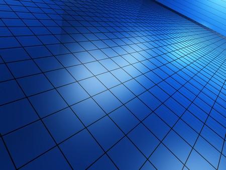 algorithm: Blue background Stock Photo