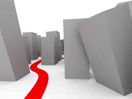 hardship:  pathway Stock Photo