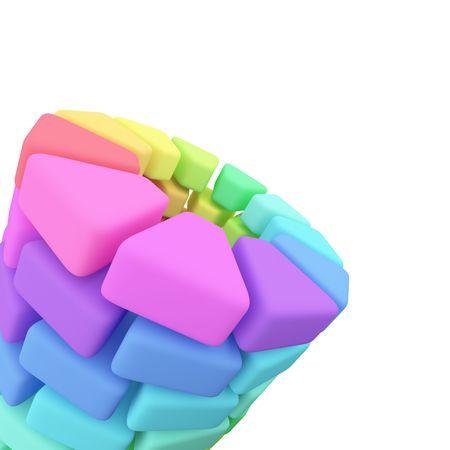 hape: Plastic Color pallete on white background