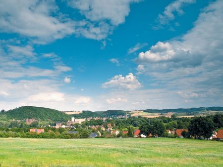 Sommer: Sommer landscape and blue sky