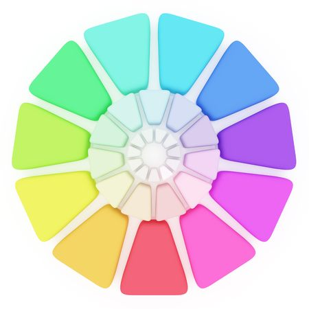 Plastic Color pallete on white background Stock Photo - 4737280