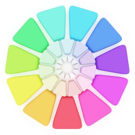 hape: Plastica tavolozza colori su sfondo bianco Archivio Fotografico