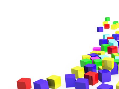 Abstract color cubes photo