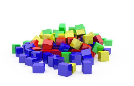 Abstract color cubes Stock Photo - 5305588