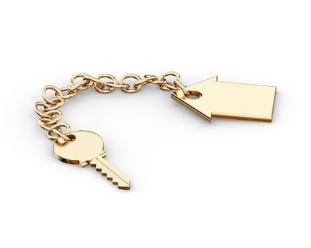 clue: Gold key charm  pendant