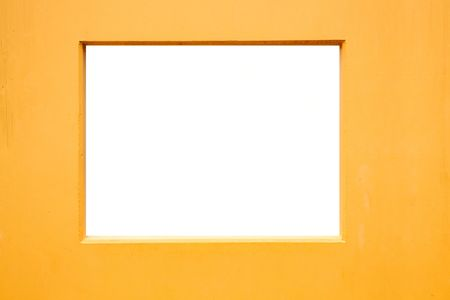 Yellow isolated frame Stock Photo - 6432315