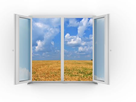 Window and sky photo