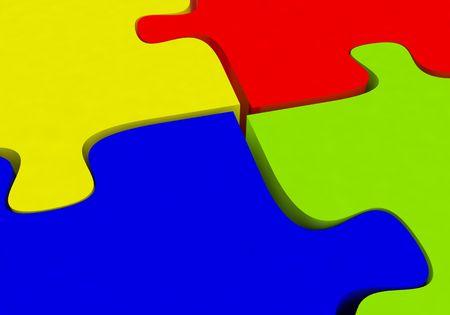 puzzle background: Concept color puzzle background