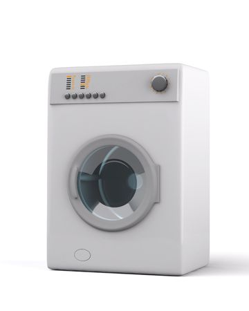 3d washer isolated on white
