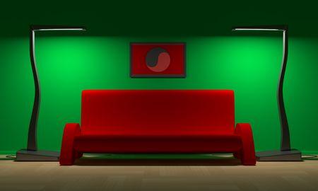 lampe: Sofa and floor lampe in modern room