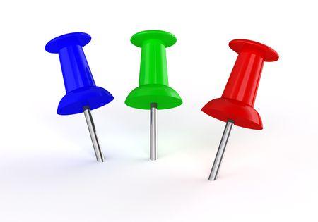 color thumbtacks on white Stock Photo - 6959451