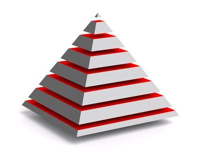Abstract 3d piramid photo