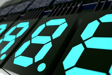 Digits led  display photo