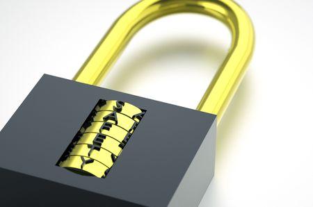 lock on white Stock Photo - 7063144