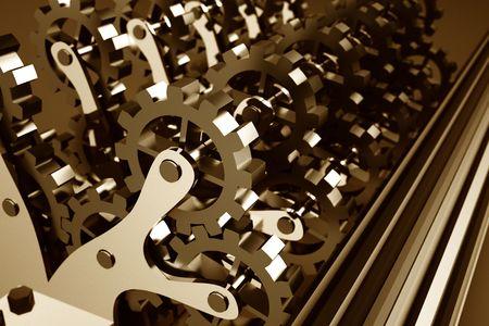 industrial mechanics: Mec�nica industrial de engranajes  Foto de archivo