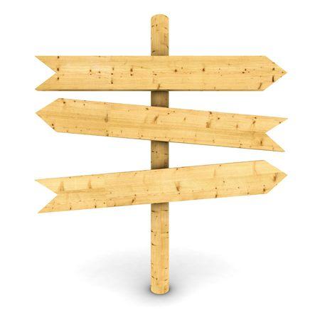 channelize: wooden arrows