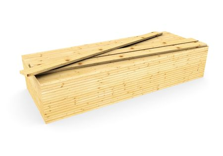 3d  a pack of wood boards Stock Photo - 7634267