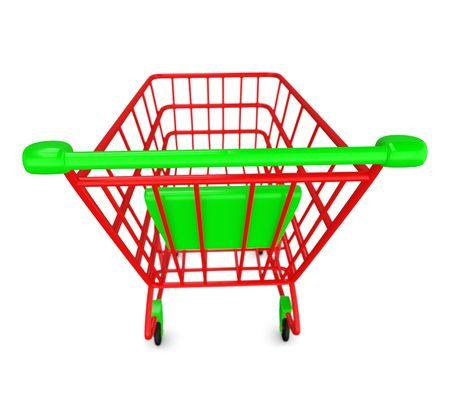 shoppingcart:  Red empty Shoppingcart isolated on white Stock Photo