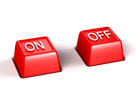 shutoff: On and off Stock Photo